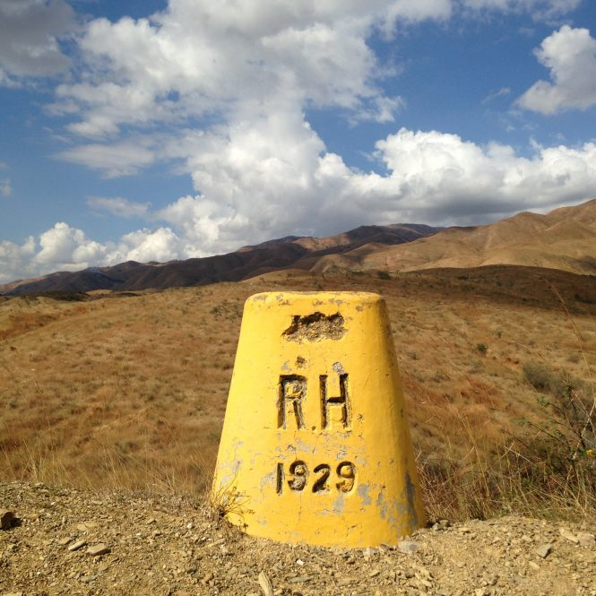 Much of the border between Haiti and the Dominican Republic is actually a dirt road dividing the two nations that share the island of Hispaniola. That road is called ÒLa Linea,Ó or ÒThe Line,Ó and the only demarcations are occasional yellow-painted concrete markers inscribed with RD (Republica Dominicana) and RH (Republique dÕHaiti).