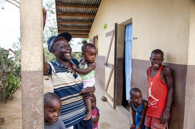 Romulus Herme and Rosamene Cheriza family in Haiti.