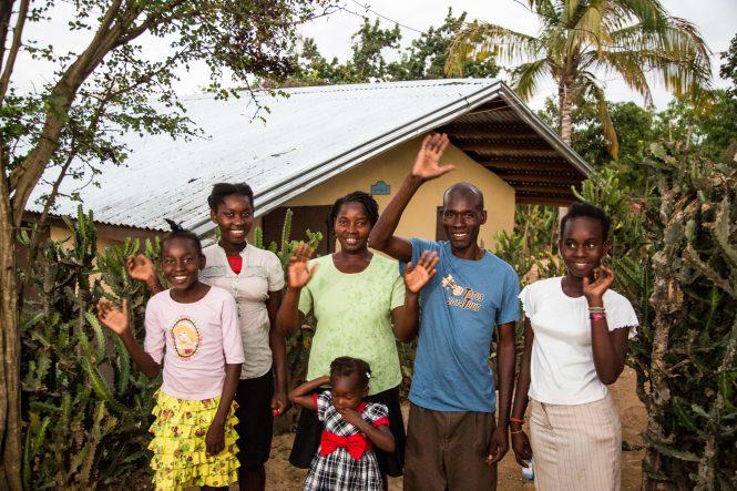 Jean-Claude St. Hilaire family in Haiti.