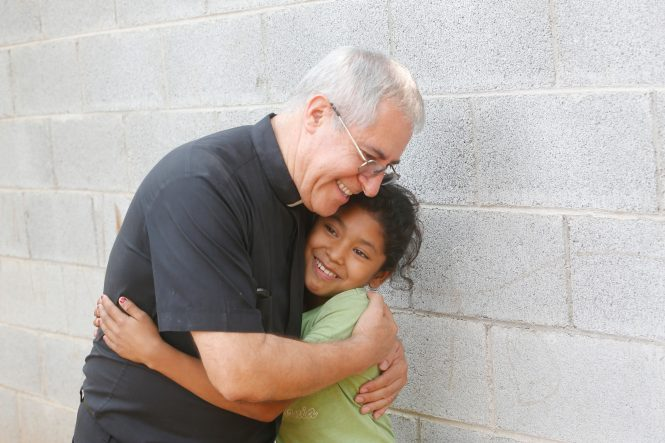 Concepcion housing recipients, Angelina Jimenez family, Fr. Raul Monterroso