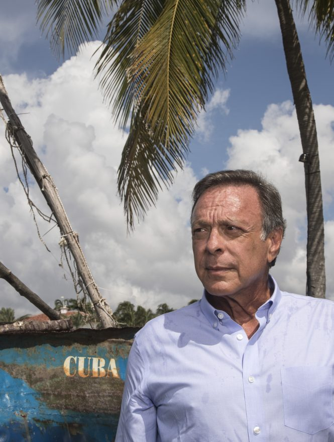 Cuban-American philanthropist Mike Fernandez at his home in Miami, FL.