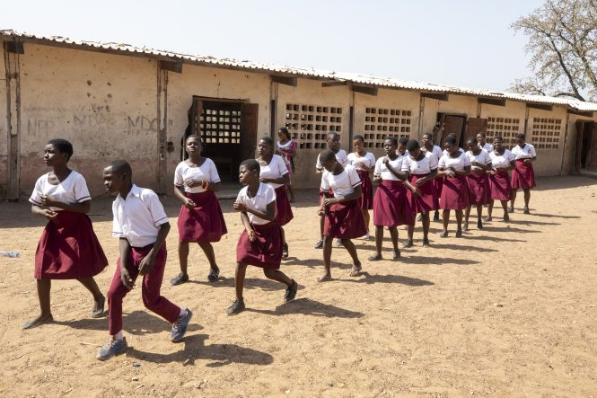 Wakawaka Junior High School ground breaking.Photos of projects in and around Damongo Parish, Ghana for Cross Catholic Outreach.