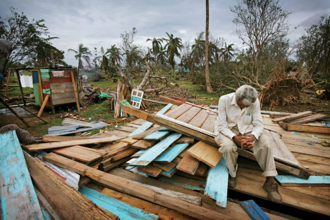 Thomas Corales, 82, lost his home to Hurricane Felix and has nothing left but a few clothes that he dug out of the wreckage. The remote villages that make up the community of Sandy Bay, Nicaragua were shattered by Hurricane Felix which damaged most of the homes as the category five storm roared ashore just to the north. Village leaders say that about 95 people are missing, most of whom were fishing on islands off shore and were unaware of the ferocity of the storm.